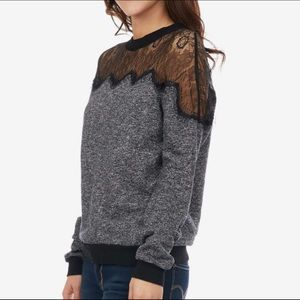 Fate Black Sweater with Black Lace - Size Large